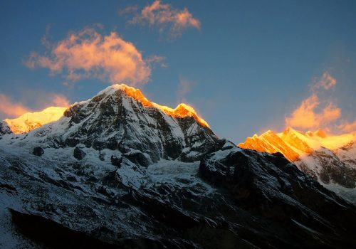 Trekking through the Annapurna base camp and see the breathtaking view as the mountains reflect the light of the sun on himalayan summit Short Annapurna base camp trekking 8 days package.